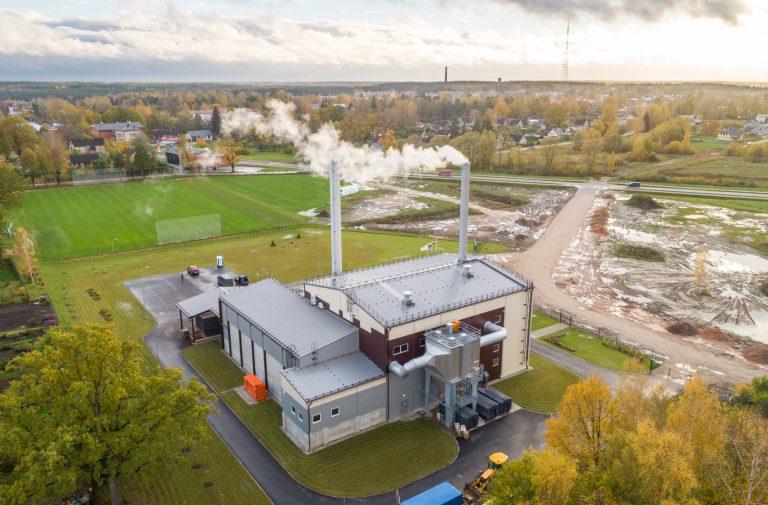 Šķeldas biomasas katlumājas projektēšana un būvniecība Valmierā