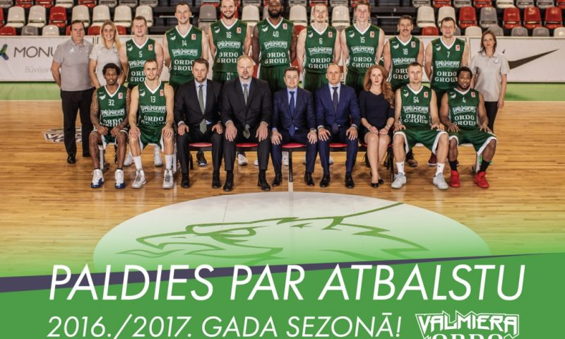 """MONUM atbalstītais basketbola klubs """"Valmiera/ORDO"""" 2016./2017.gada sezonu noslēdz ceturtajā vietā"""