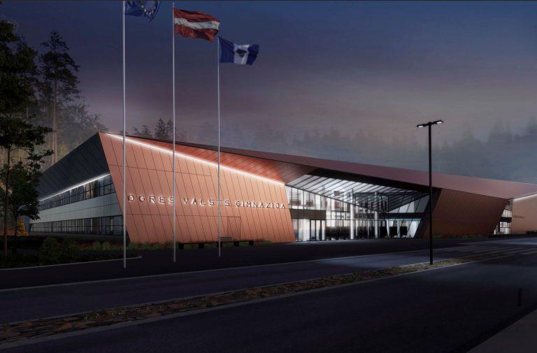 Ogres Valsts ģimnāzijas ēkas un sporta ēkas būvprojekta izstrāde, būvniecība un autoruzraudzība