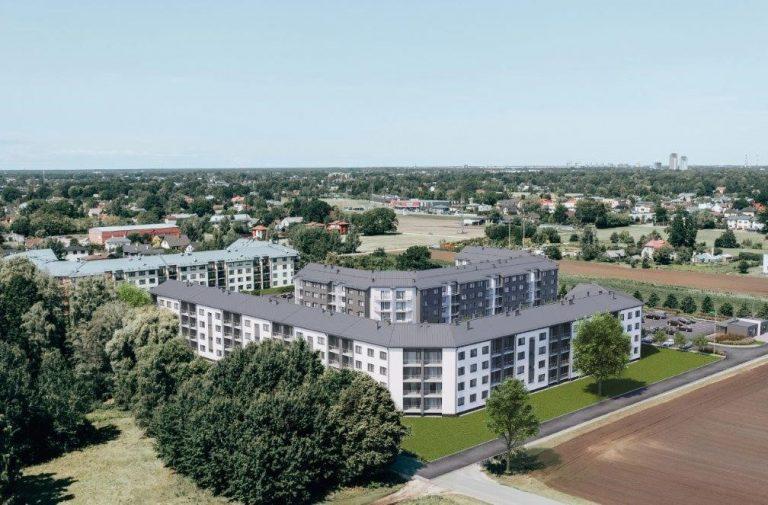 Daudzdzīvokļu dzīvojamās ēkas būvniecība Mārupē